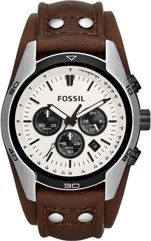 "Fossil, Chronograph, ""COACHMAN, CH2890"" in braun"