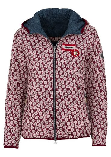 Costume Outdoor Jacket Women With Edelweiss Pattern, Almgwand