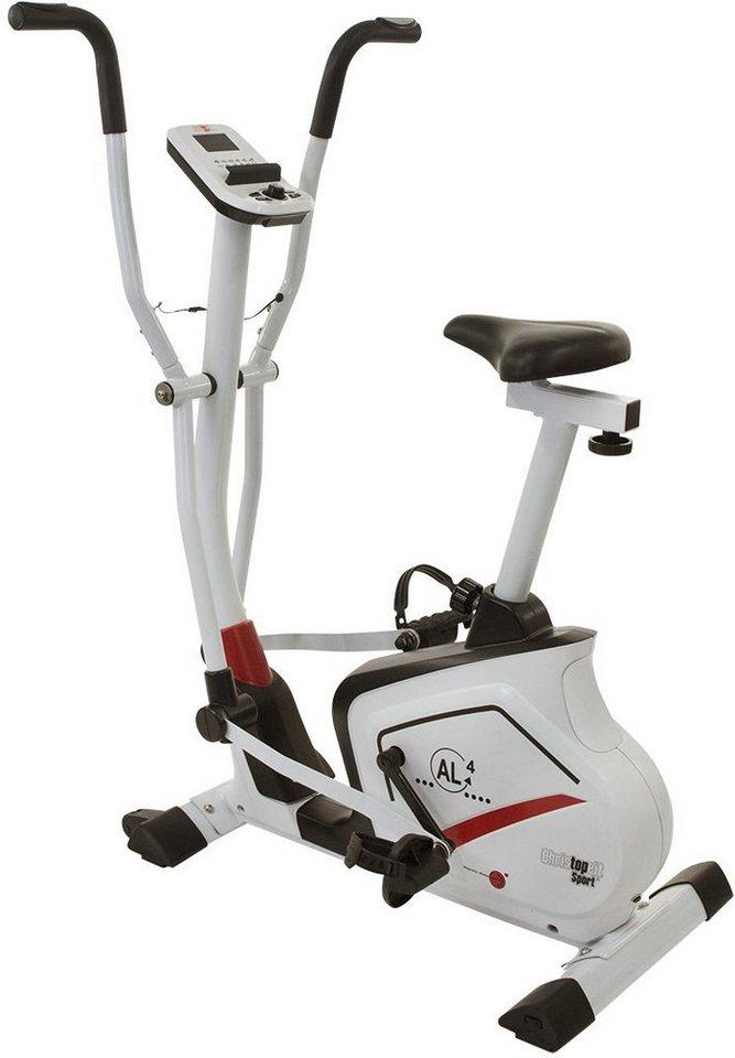 Christopeit Sport® Heimtrainer Ergometer, »AL 4« in weiß-schwarz rot