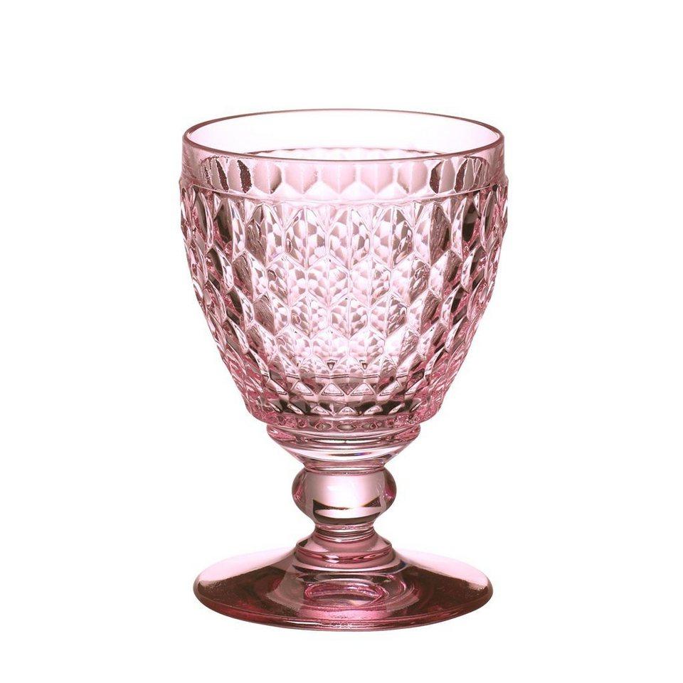 VILLEROY & BOCH Rotweinglas rose 132mm »Boston coloured« in Dekoriert