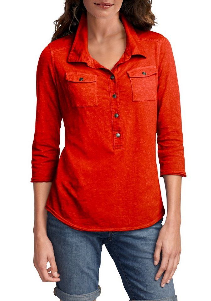 Eddie Bauer Polobluse in Rot