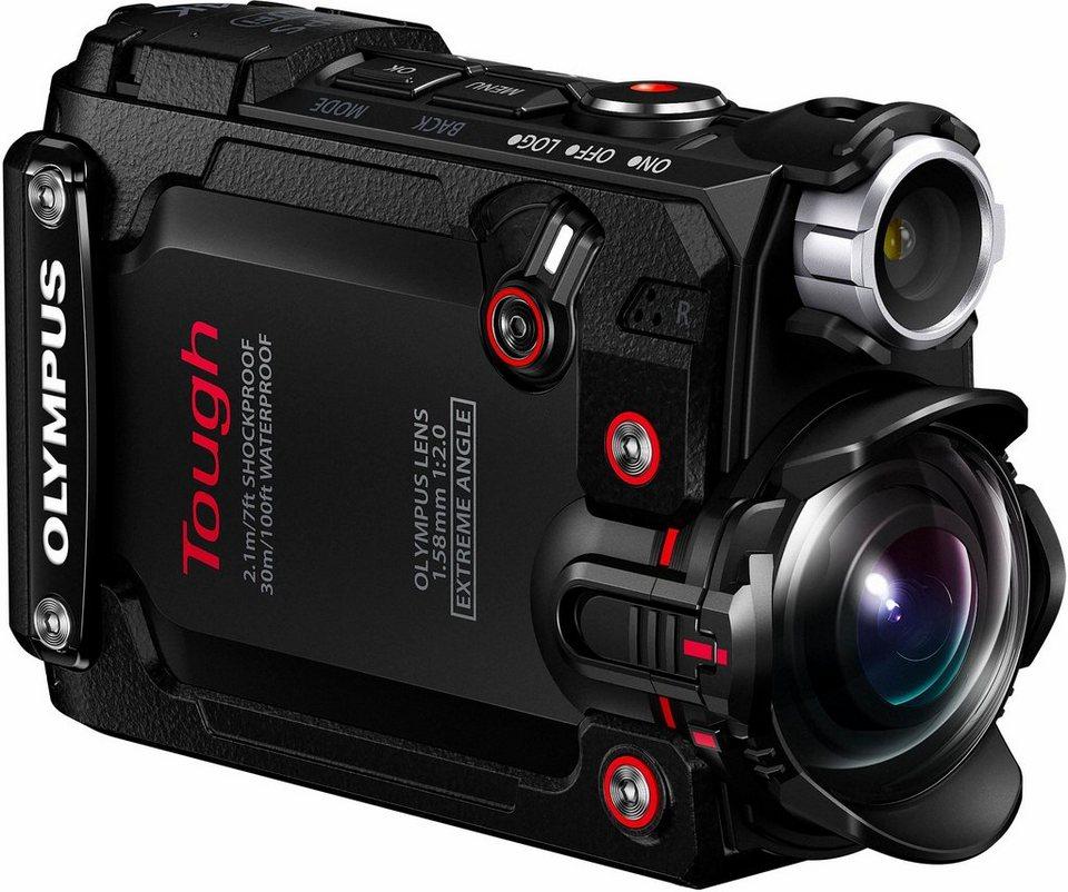 Olympus Actioncam TG-Tracker 4K (Ultra-HD) Camcorder, Videoleuchte, GPS, WLAN, Staubfest
