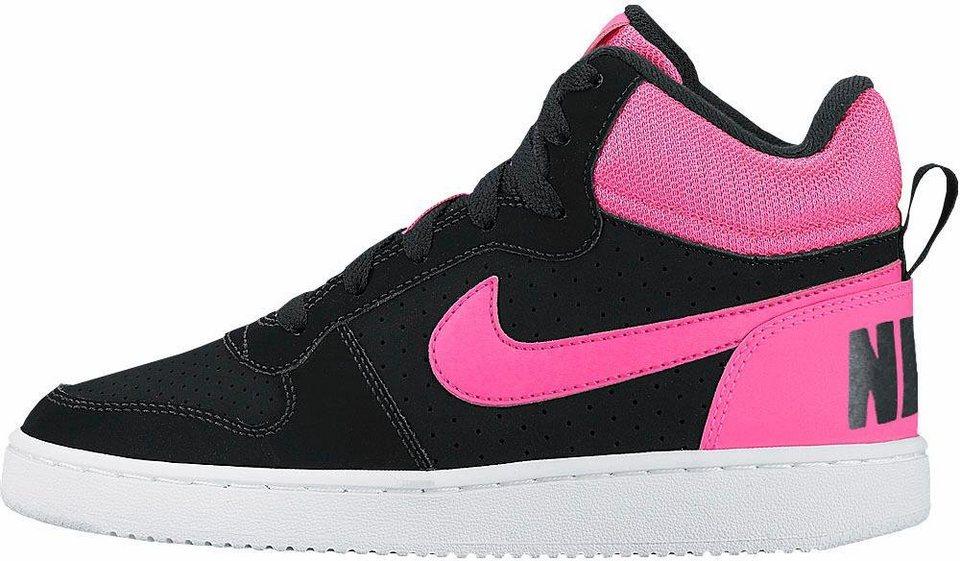 Nike »Recreation Mid« Sneaker in schwarz-pink