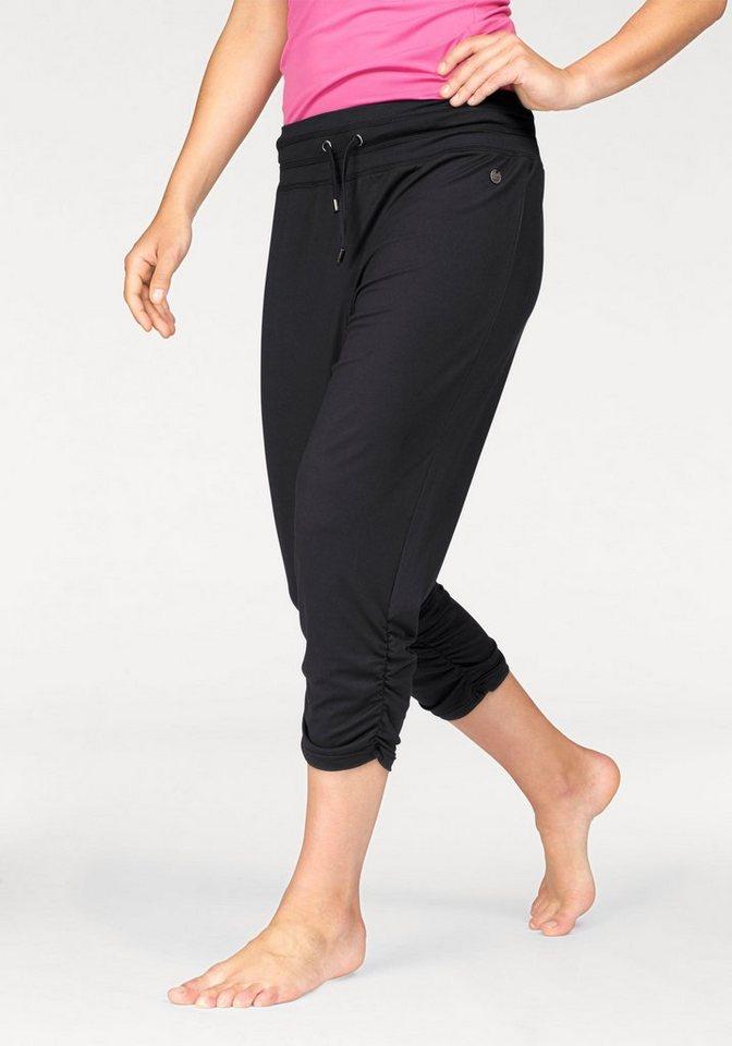 Ocean Sportswear Yogahose Raffung am Saum in schwarz