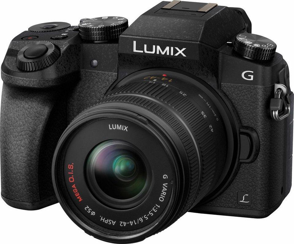 Lumix Panasonic DMC-G70KA System Kamera in schwarz