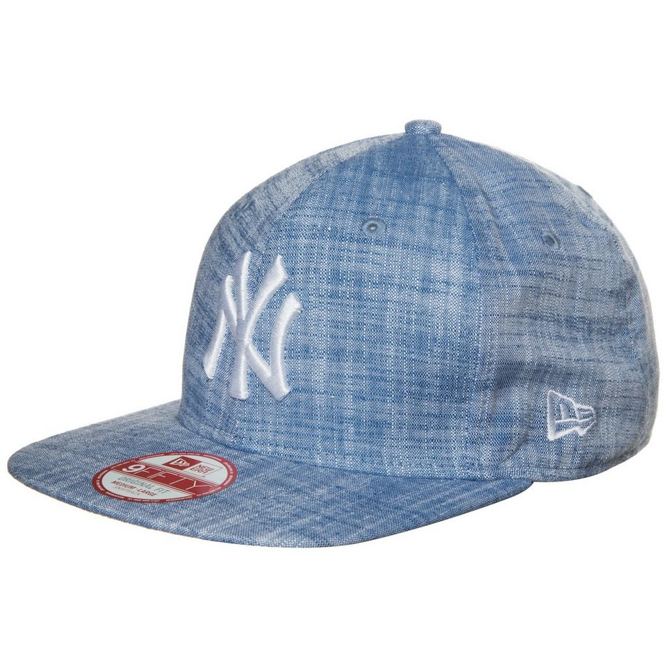 New Era 9FIFTY Chambray New York Yankees Snapback Cap in hellblau / weiß