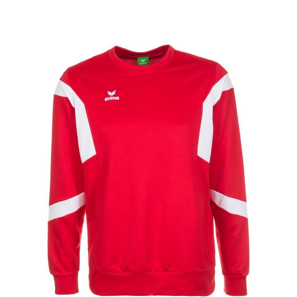 ERIMA Classic Team Trainingssweat Kinder in rot / weiß