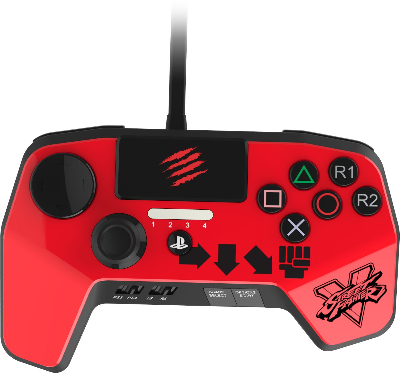Mad Catz Street Fighter V FightPad PRO - Ken »(PS4 PS3)«