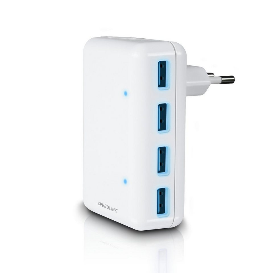 SPEEDLINK USB Ladegerät für Steckdosen »QUADRAX 4-Port weiß«
