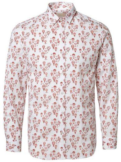 Selected Bedrucktes Slim Fit Hemd