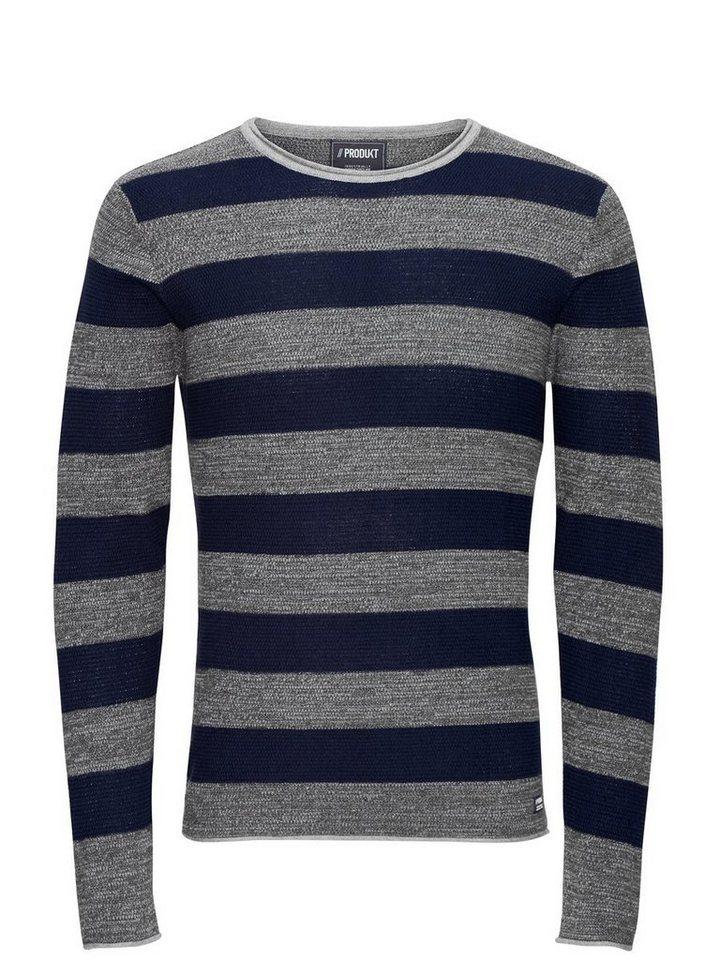 Jack & Jones Klassischer Pullover in Grey Melange