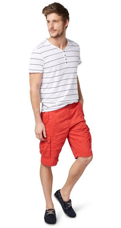 TOM TAILOR Shorts »Cargo-Hose in Bermuda-Länge« in sun bleached red