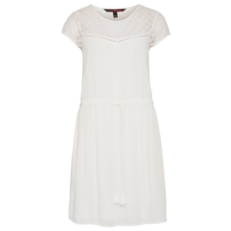 TOM TAILOR DENIM Kleid »crochet detail dress« in off white