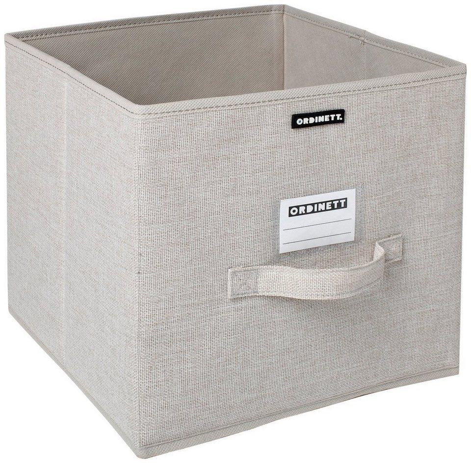 Aufbewahrungsbox »Linette«, groß, 28,5x28,5x28,5 cm, 2er-Set in beige