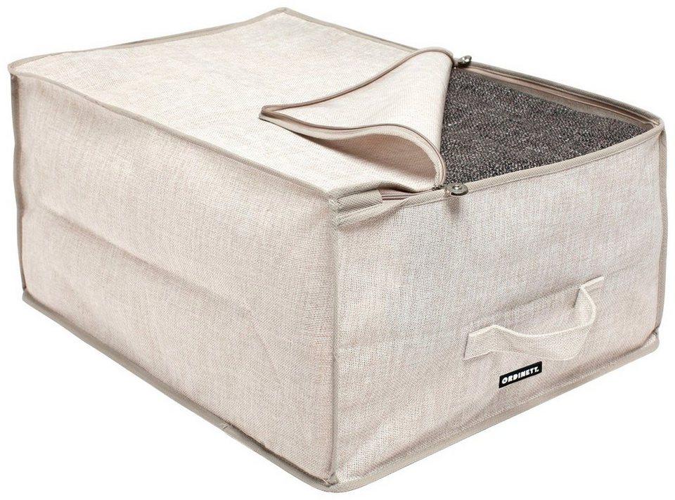 Wäschebox »Linette«, Größe L, 2er-Set in beige