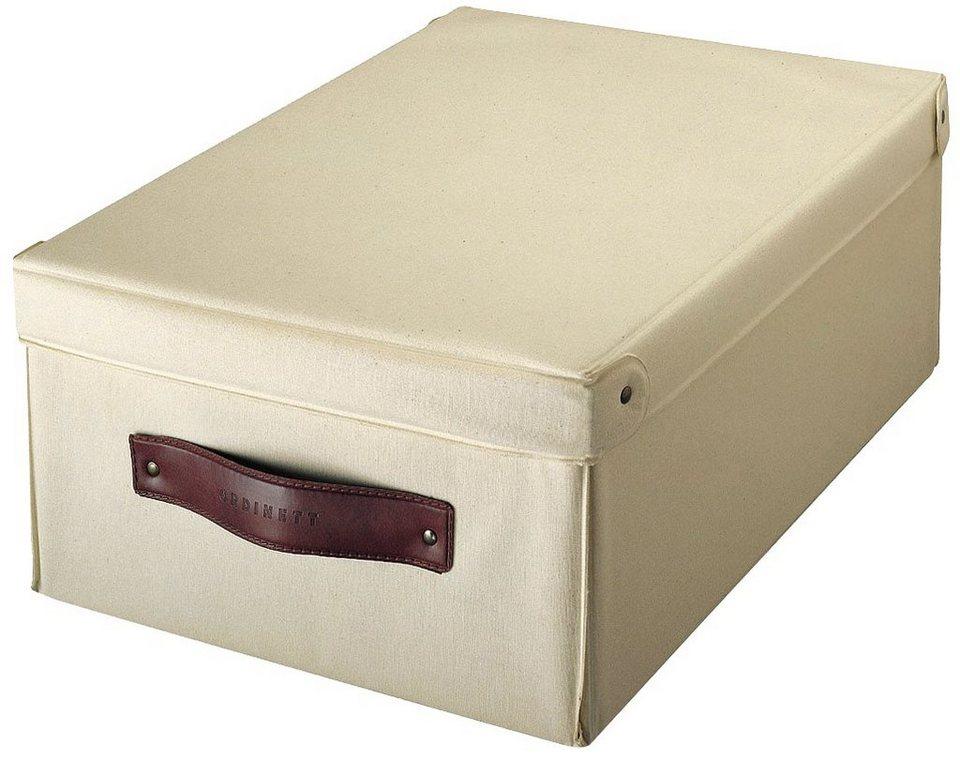 Aufbewahrungsbox »Wood«, Größe M, 2er-Set in beige