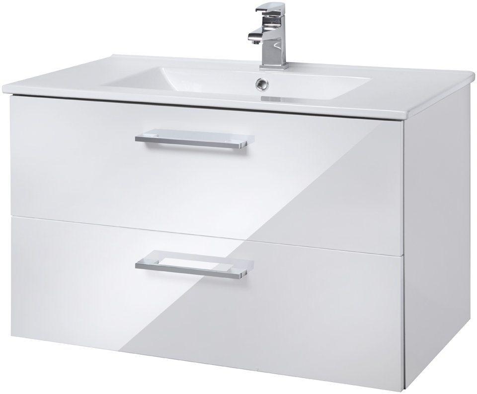 Waschtisch »Trento «, Breite 80 cm, (2-tlg.) in weiß
