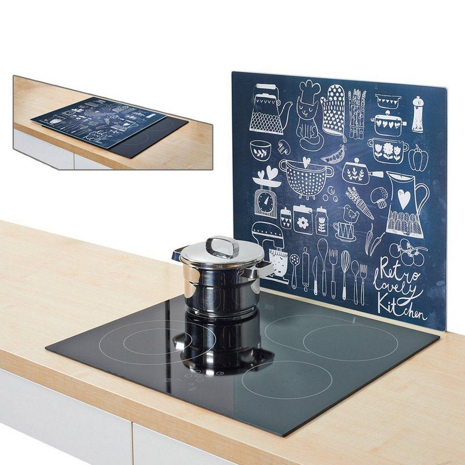 Herdblende/Spritzschutz »Lovely Kitchen« in schwarz