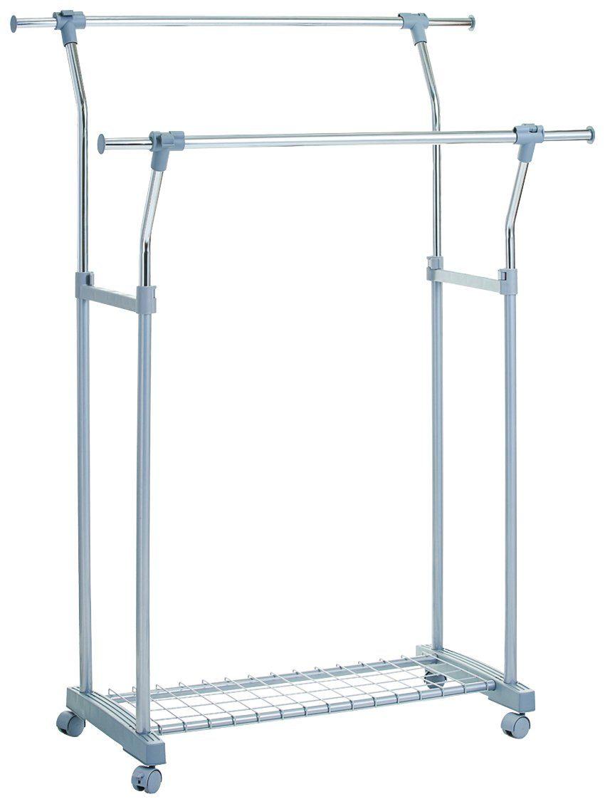 ZELLER Kleiderständer »Rollkleiderständer, 2-tlg., ausziehbar und höhenverstellbar«