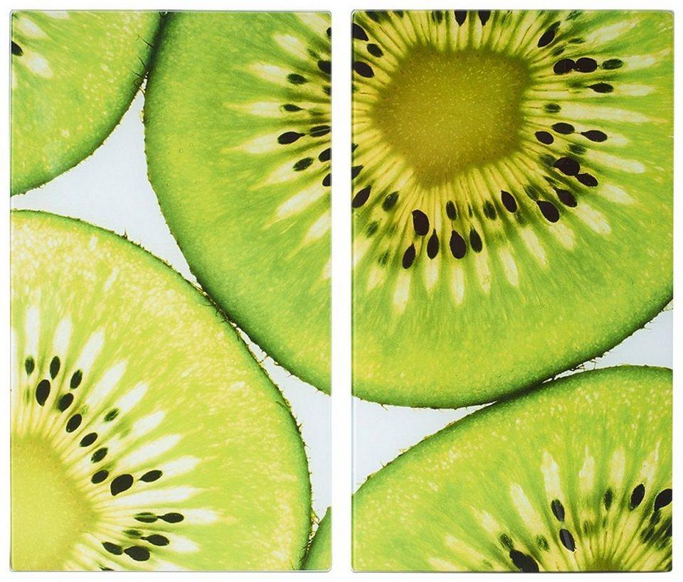 Herdabdeckplatten »Kiwi«, 2er-Set in grün
