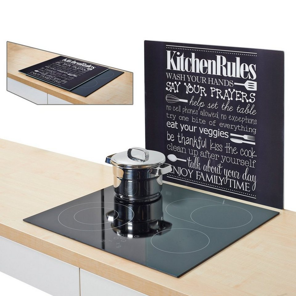 herdblende spritzschutz kitchen rules kaufen otto. Black Bedroom Furniture Sets. Home Design Ideas