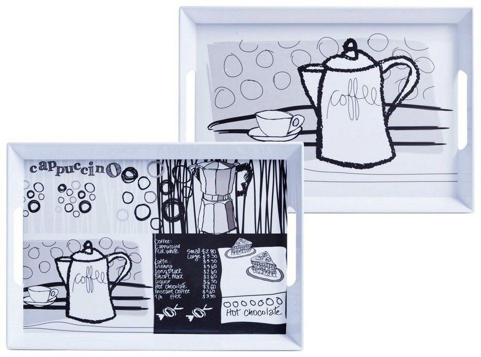 Tablett »Coffee« in grau