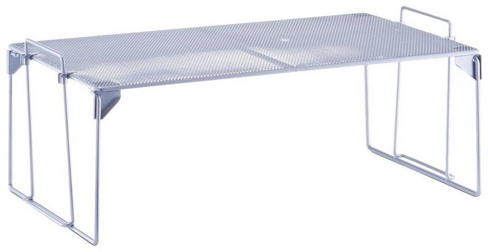 Universalregal »Mesh«, stapelbar, Breite 43 cm in silberfarben