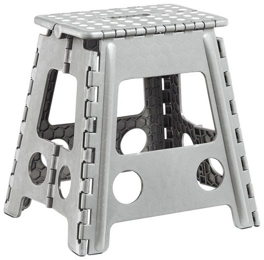 Klapphocker aus Kunststoff, 38,5x31,5x39 cm