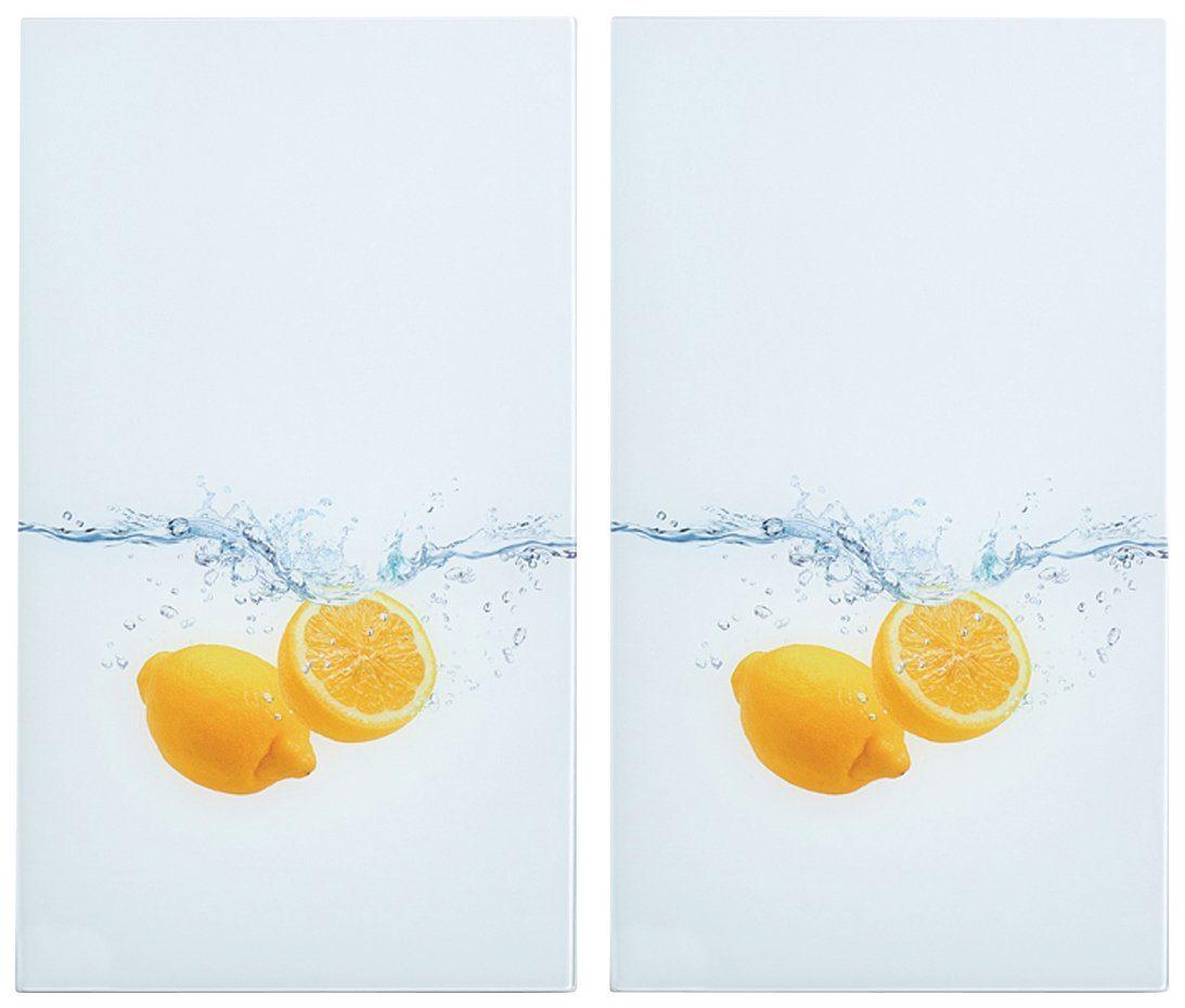 Herdabdeckplatten »Lemon Splash«, 2er-Set