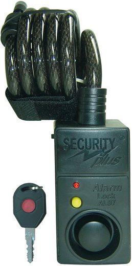 Security Plus Spiralschloss »SECURITY plus Fahrrad Alarmschloss mit Bewegungsmelder«