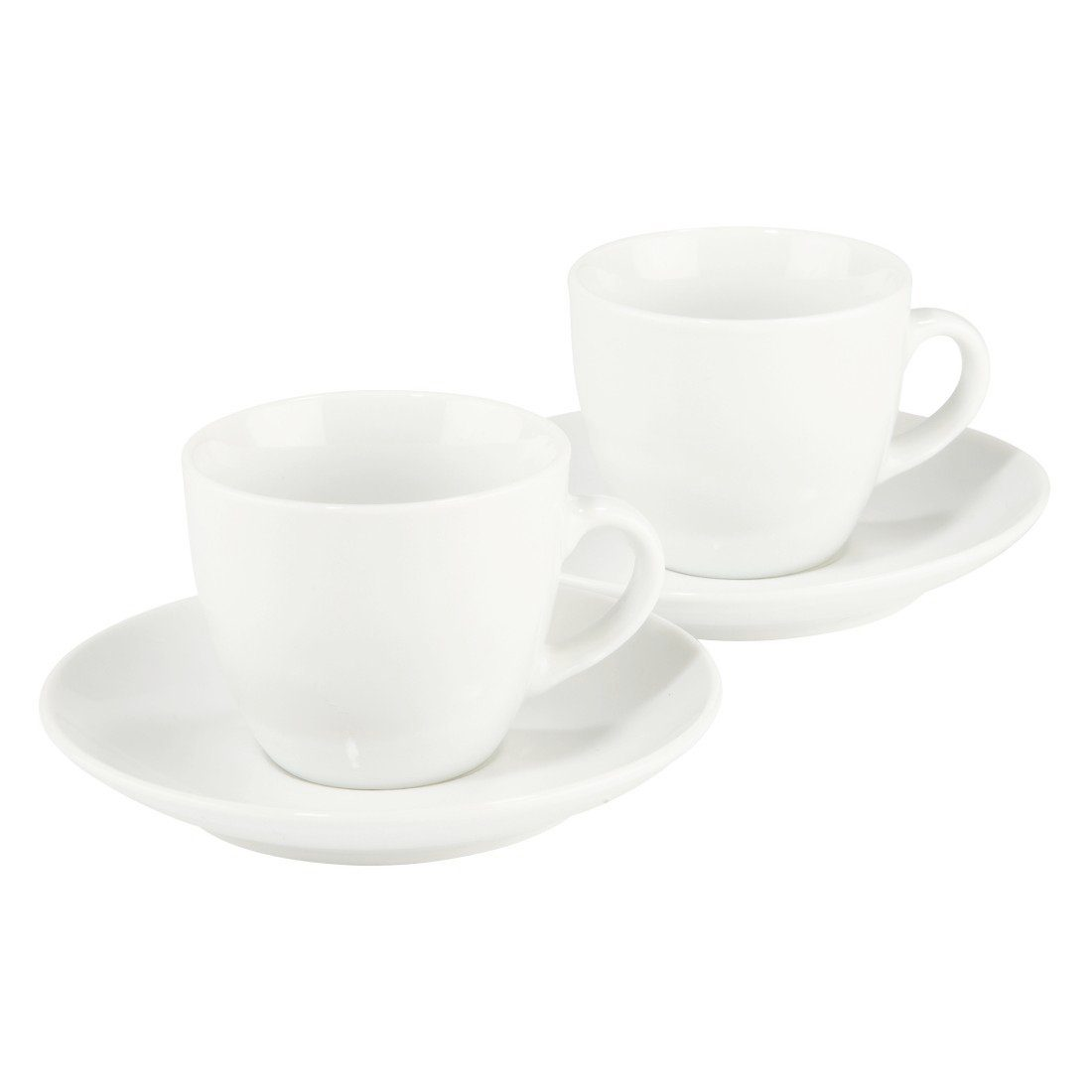 Xavax Espressotassen Set 4-teilig, 2 Tassen, 2 Untertassen, 70 ml »Vacant, Steingut, Mokkatasse«