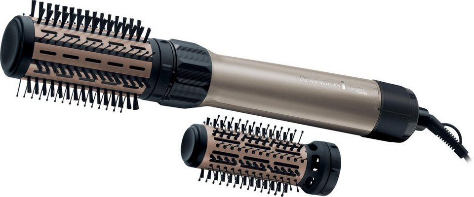 Remington Keratin Therapy Volume & Protect rotierende Warmluftbürste AS8110, 1000 Watt in gold/schwarz