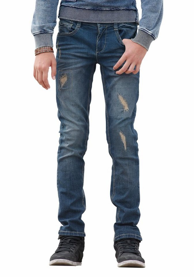 s.Oliver RED LABEL Junior Stretch-Jeans Regular-fit mit schmalem Bein in blue-denim