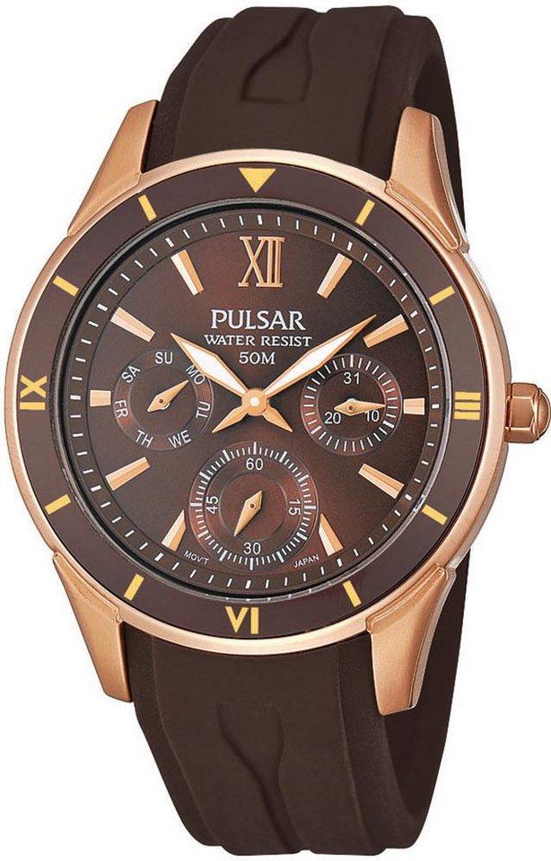 Pulsar Multifunktionsuhr »PP6052X1« in braun