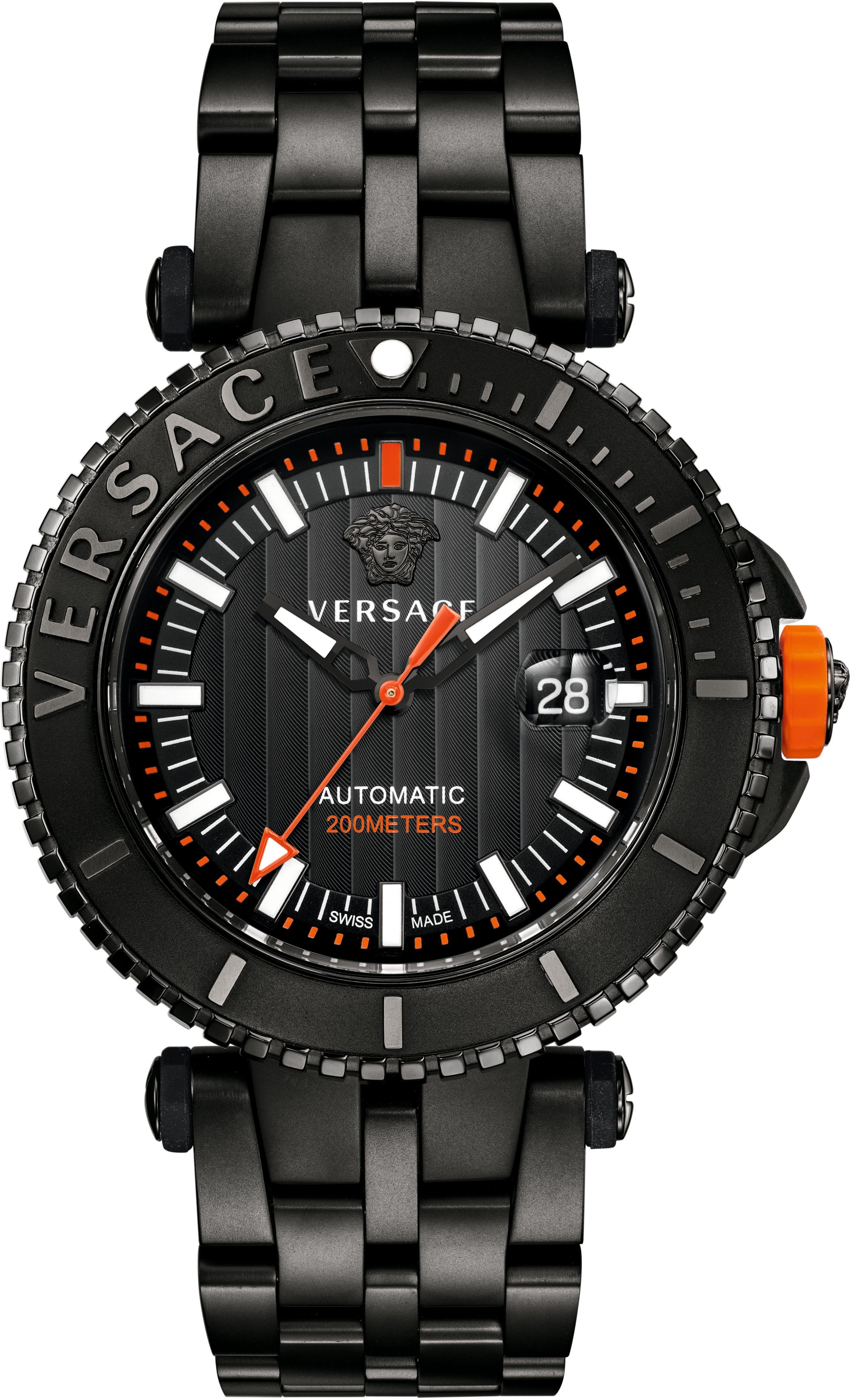 Versace Automatikuhr »V-RACE DRIVER VAL010016« (Set, 2 tlg) mit Wechselband aus Silikon