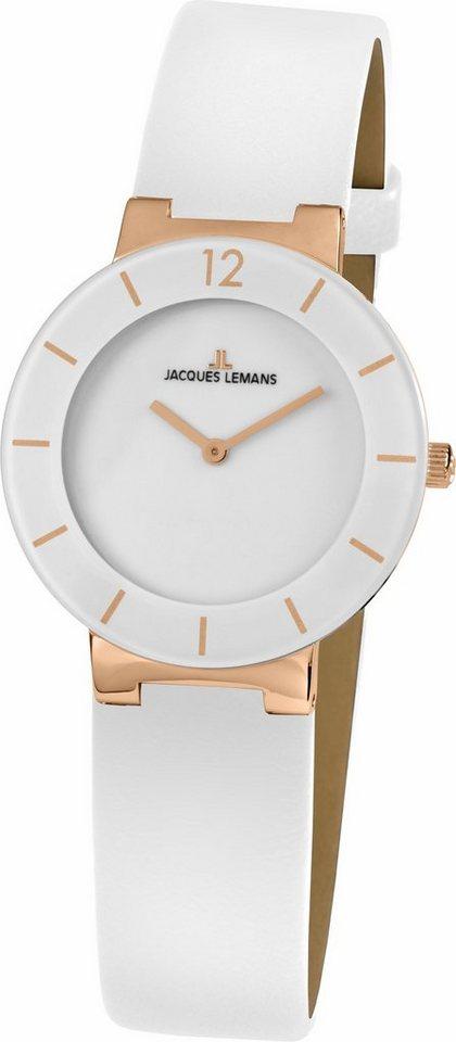 Jacques Lemans Classic Quarzuhr »41-5D« in weiß