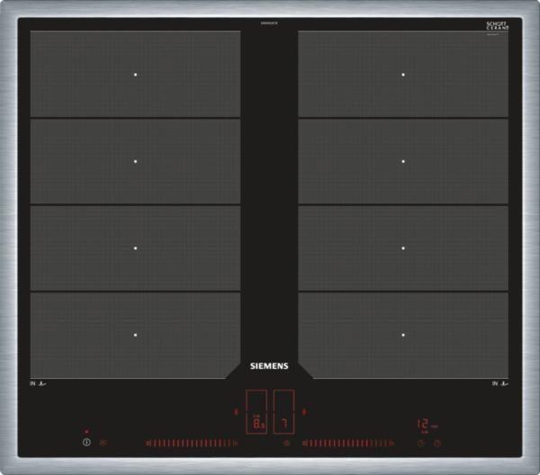 SIEMENS Flex-Induktions-Kochfeld von SCHOTT CERAN® EX645LXC1E, mit powerMove Plus