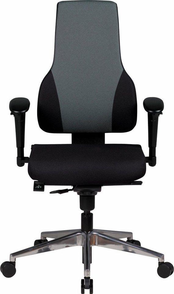 Amstyle Chefsessel »Quentin« in schwarz/grau