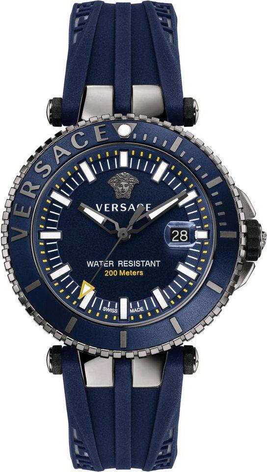 Versace Schweizer Uhr »V-RACE DRIVER VAK020016« 3 von 3 Zeiger beleuchtet in blau