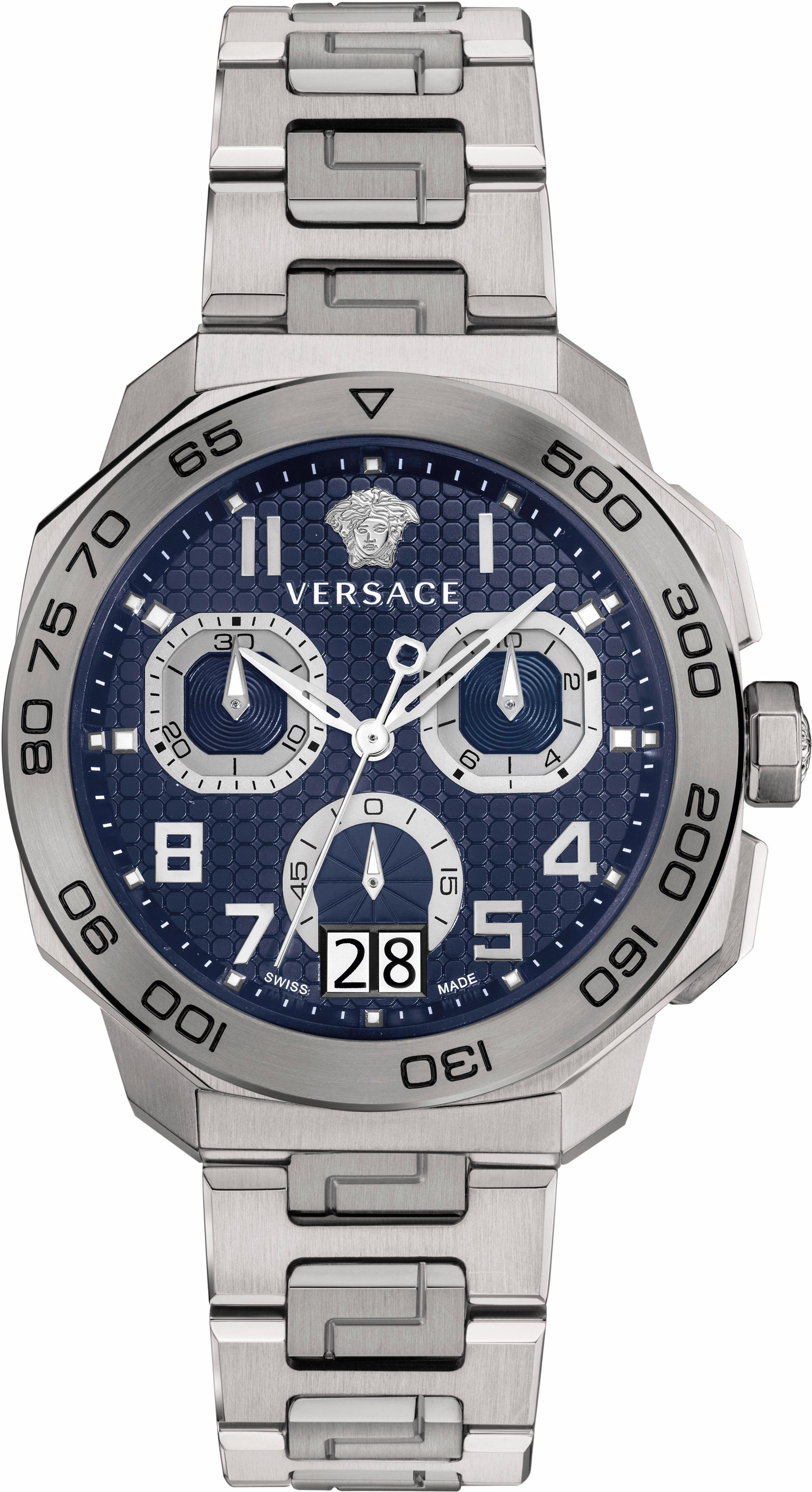 Versace Chronograph »DYLOS, VQC090016«, 5 von 6 Zeiger beleuchtet