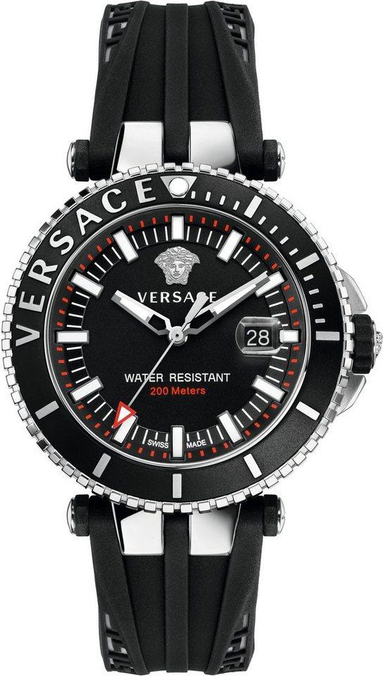 Versace Schweizer Uhr »V-RACE DRIVER VAK010016« 3 von 3 Zeiger beleuchtet in schwarz