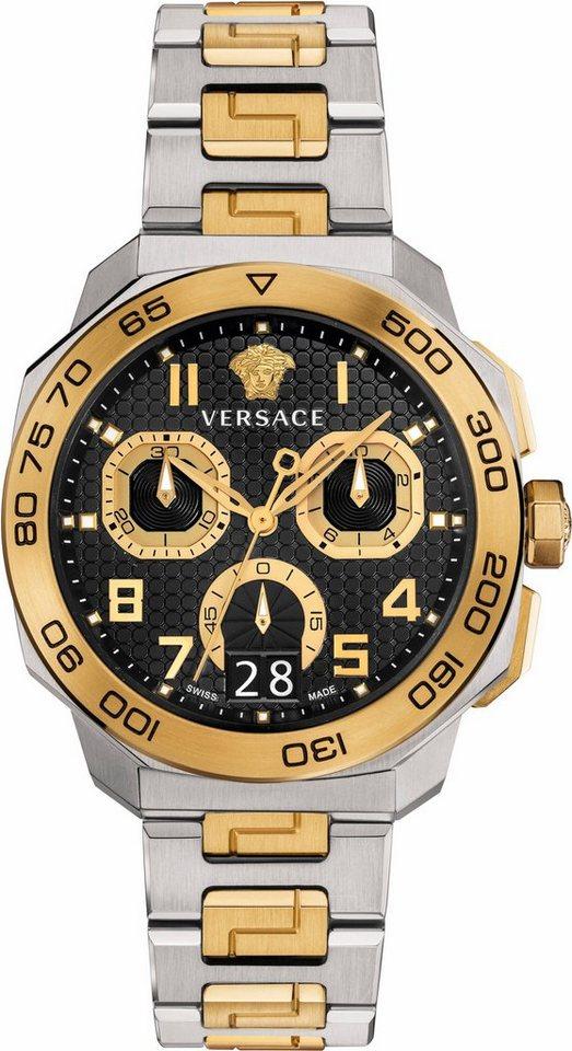 Versace Chronograph »Dylos, VQC100016« in silberfarben-goldfarben