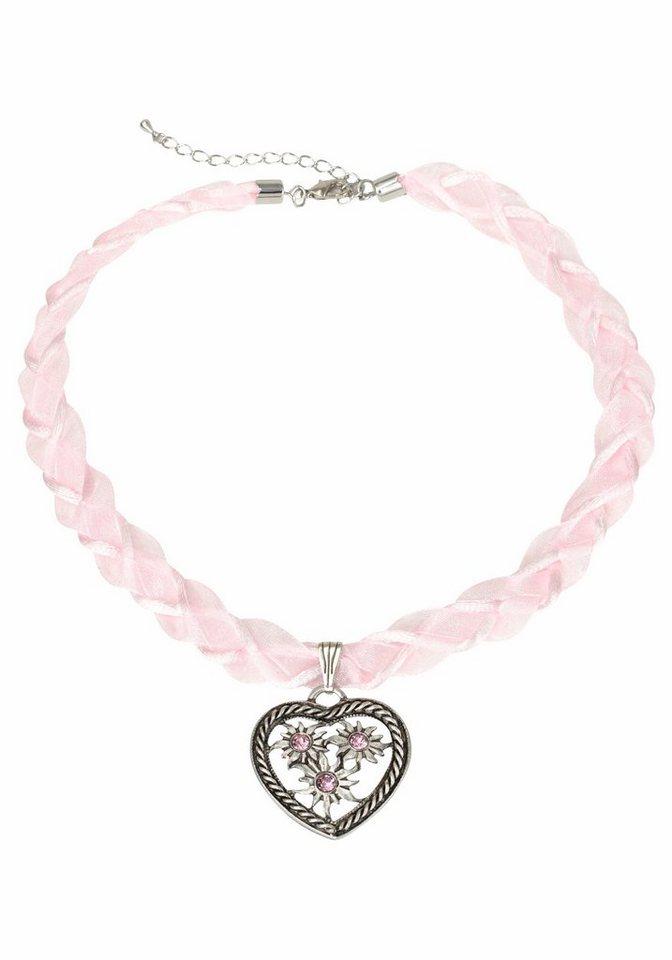 J. Jayz Kette mit Anhänger mit Herz in rosa