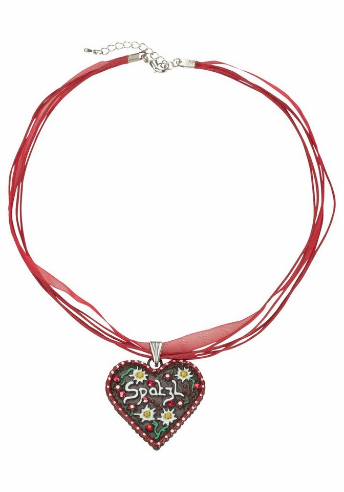 J. Jayz Kette mit Anhänger mit Herz in rot