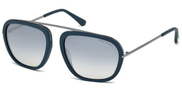 Tom Ford Herren Sonnenbrille »Johnson FT0453«, blau, 88C - blau/grau