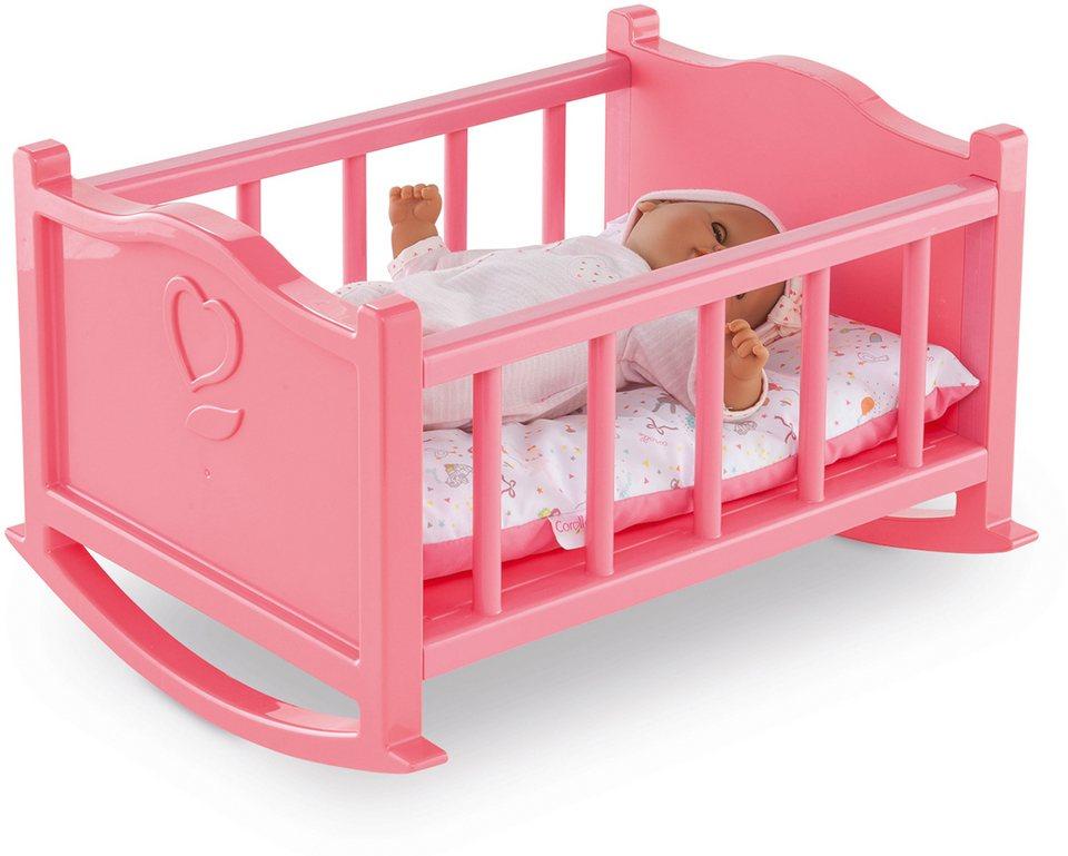 Corolle Puppenbett, »Wiege Mon Premier 30cm« in rosa
