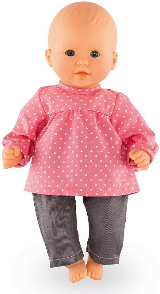Corolle Puppenbluse und Jeans, Größe 30 cm, »BB30 Erdbeere« in rosa