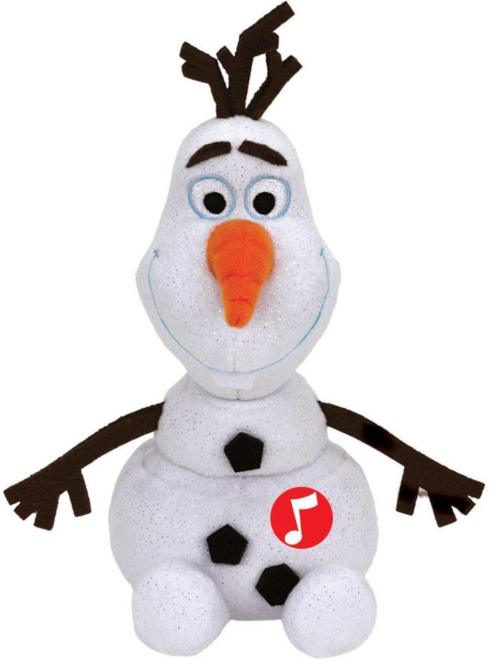 Ty Kuscheltier mit Sound, »Disney Die Eiskönigin Olaf Glitter, 20cm« in weiß