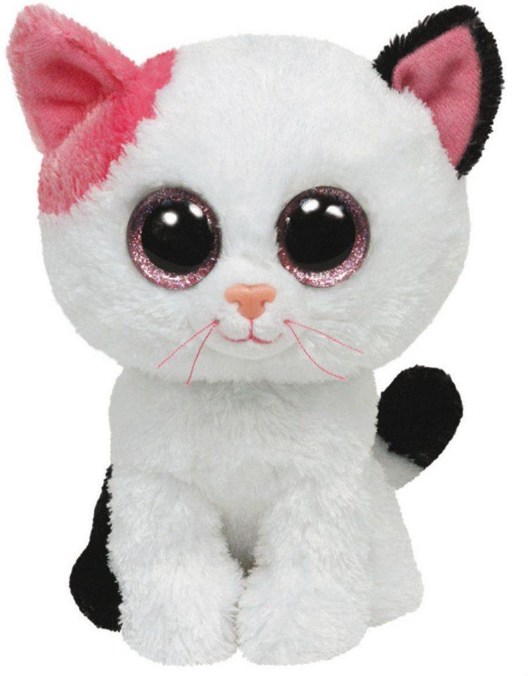 Ty Kuscheltier mit Glitzeraugen, »Beanie Boo´s™ Glubschi´s® Buddy Muffin Katze, Large 24cm« in weiß/pink