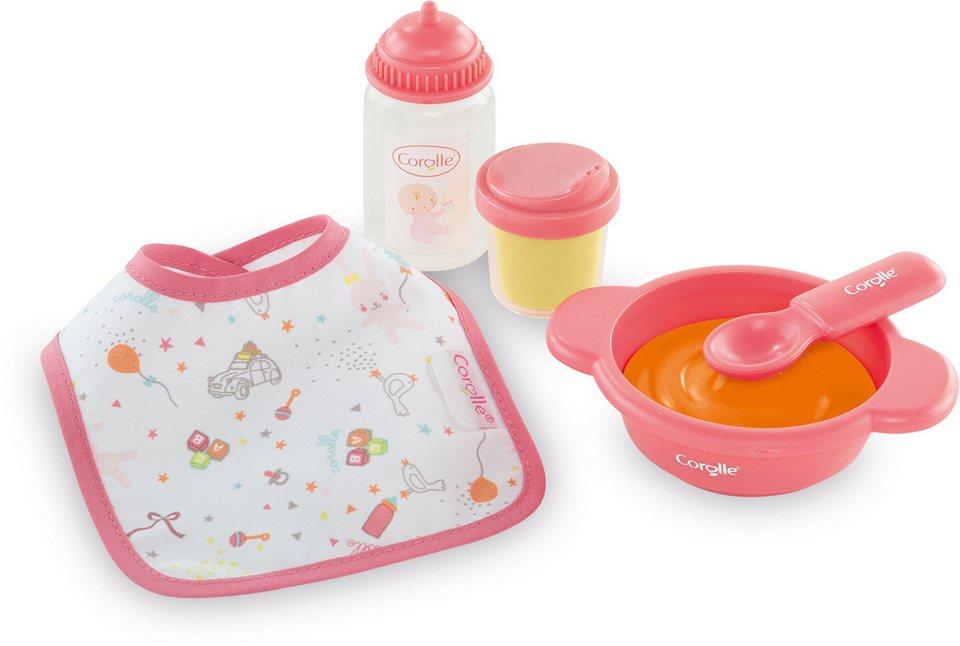 Corolle Zubehörset für Puppen, 5-tlg., »Set Mahlzeit Mon Premier« in rosa
